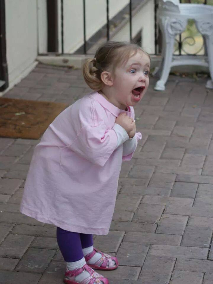 Someone shared a picture of a very excited little girl, and the Internet did amazing things with it.