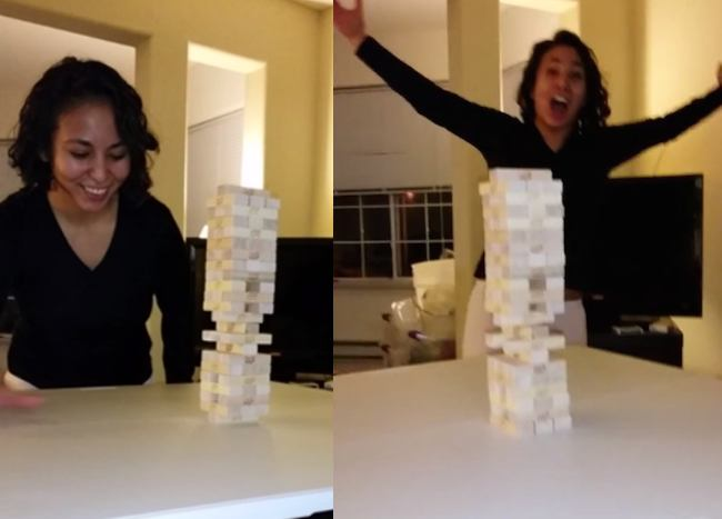 This woman's Jenga move just made her one of the all-time greats.
