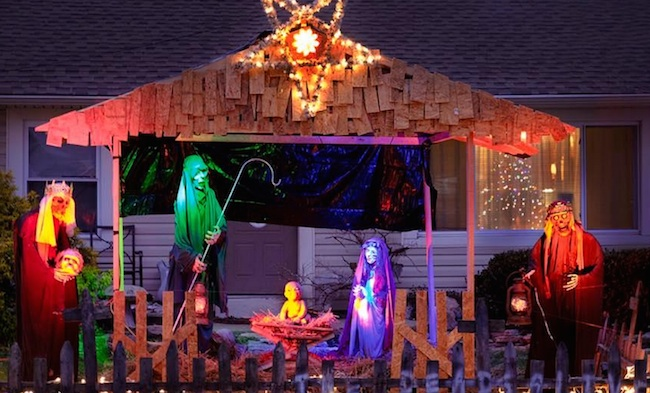 An Ohio town has told this guy he has to take down his zombie nativity scene.