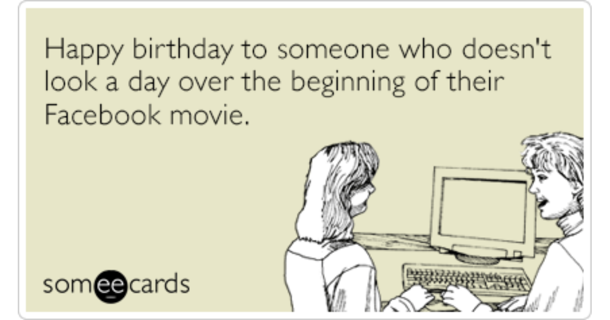 Facebook movie birthday tenth anniversary funny ecard