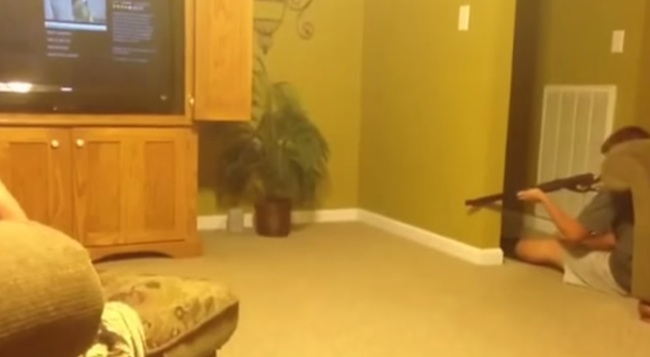 This kid attempting to shoot a mouse with a BB gun is a lesson in how not to kill mice.