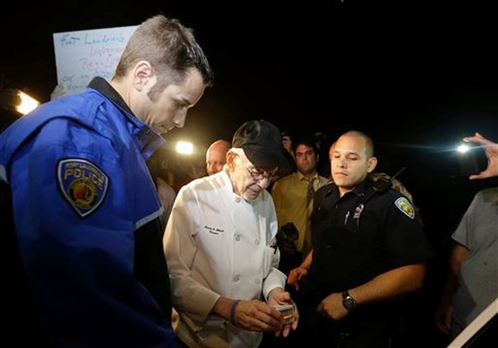 Florida reaches new level of crazy as police repeatedly arrest 90-year-old man for feeding homeless.