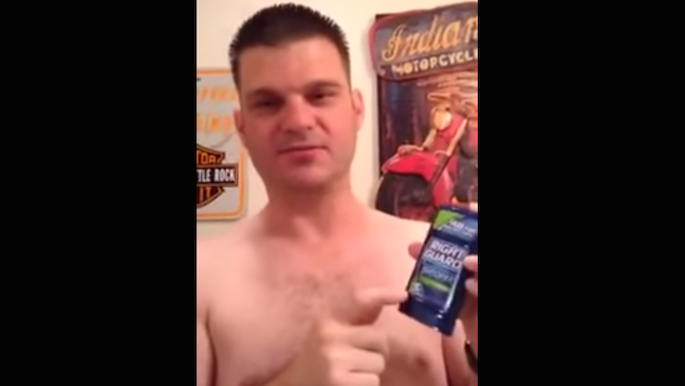A guy tried to review Right Guard deodorant and somehow managed to have it go terribly wrong.