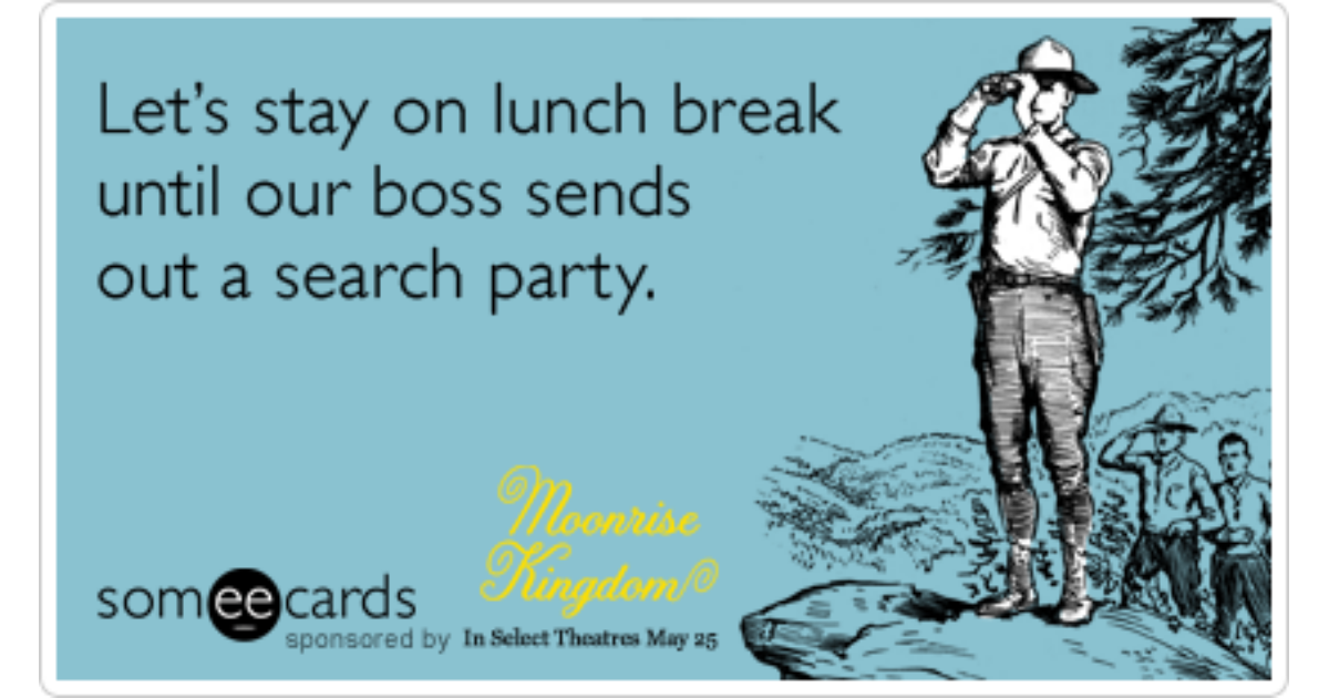 Superb Lunch Wes Anderson Bill Murray Moonrise Kingdom Funny Funny Birthday Cards Online Necthendildamsfinfo