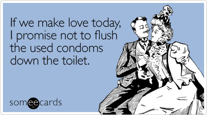 Suggest Condoms flushed toilet