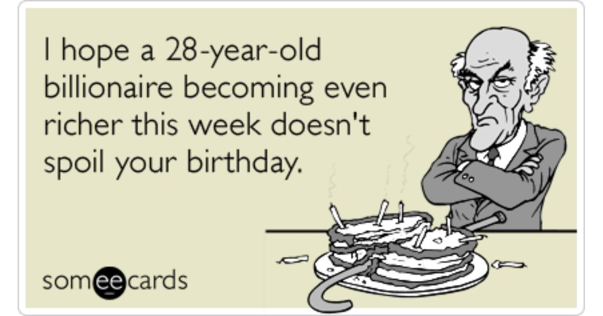 Mark Zuckerberg Facebook Ipo Billionaire Birthday Funny Ecard