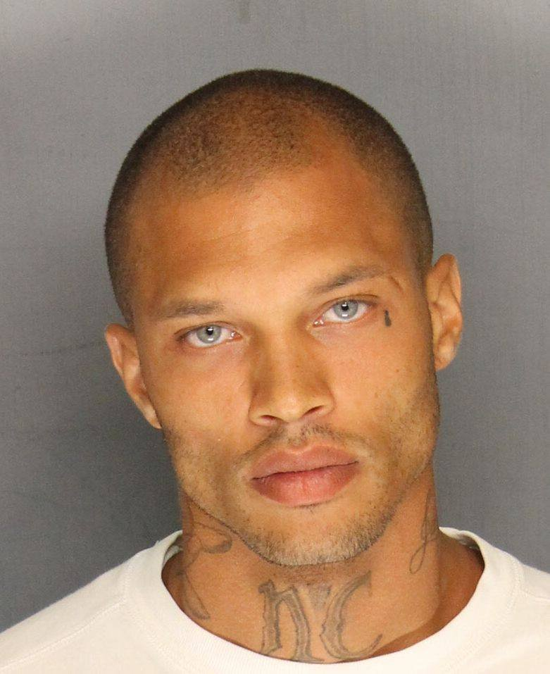 Hot mugshot guy's first modeling pics are out and he's still a hot, hot felon.