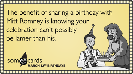 Mitt Romney's birthday party exactly as depressing as you'd expect it to be.