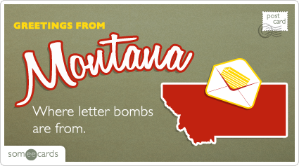Where letter bombs are from.