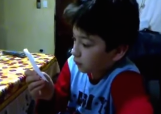 The sweetest boy in the world reacted to the gag gift his parents gave him in the sweetest way.