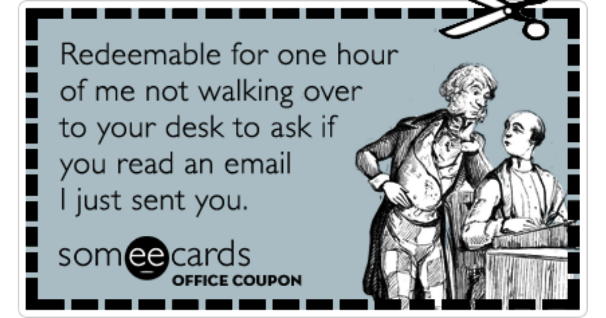 Office Coupon Email Desk Coworker Funny Ecard   Workplace ...