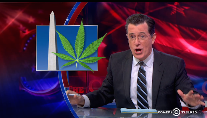 Colbert reminds Obama that weed is there to help him through these last two years.
