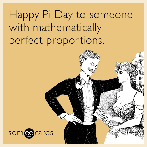 Happy Pi Day to someone with mathematically perfect proportions.