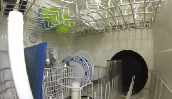 Someone put a camera inside a dishwasher, so now we can all see what happens inside.