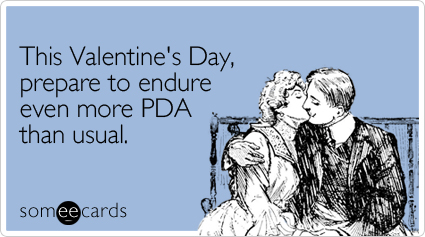 This Valentine's Day, prepare to endure even more PDA than usual