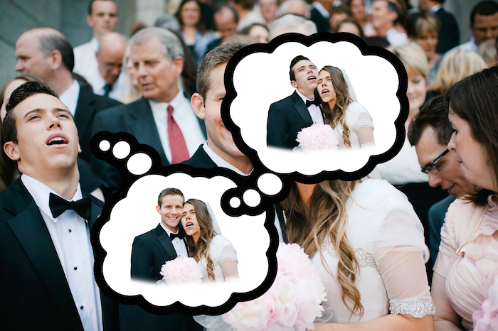 What happens when a wedding photo of you looking unbelievably stoned hits the Internet.