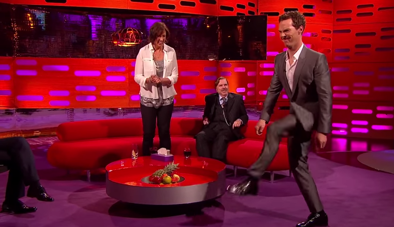Benedict Cumberbatch tries to walk like Beyoncé, ends up looking like Monty Python.