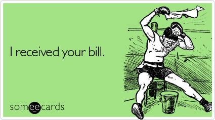 I received your bill