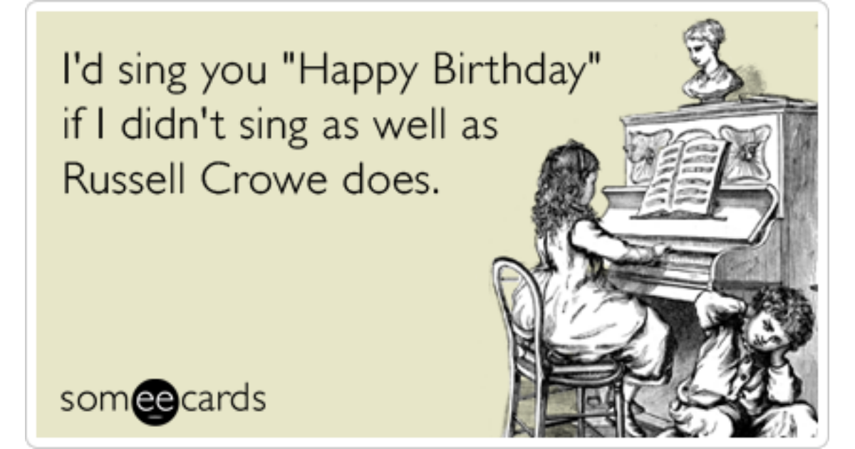 Russell Crowe Les Miserables Birthday Sing Funny Ecard