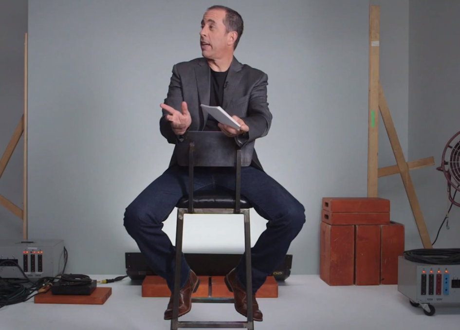 A visibly irritated Jerry Seinfeld answers your questions about Internet etiquette.
