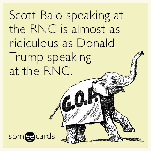 Scott Baio speaking at the RNC is almost as ridiculous as Donald Trump speaking at the RNC.