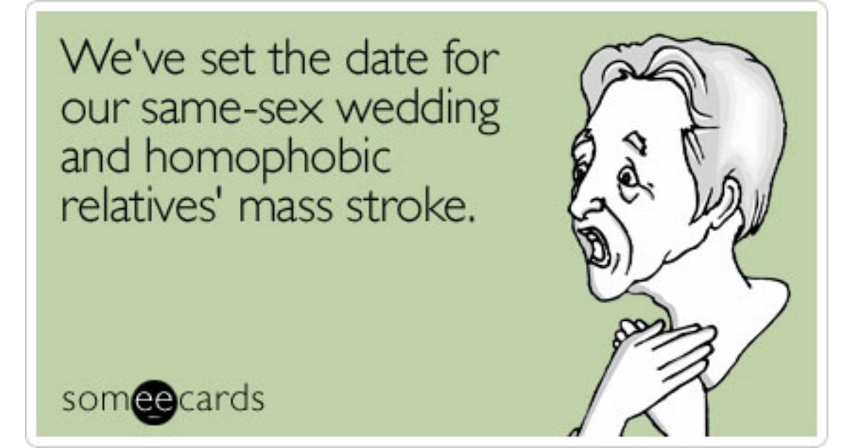 Same sex date conservative wedding
