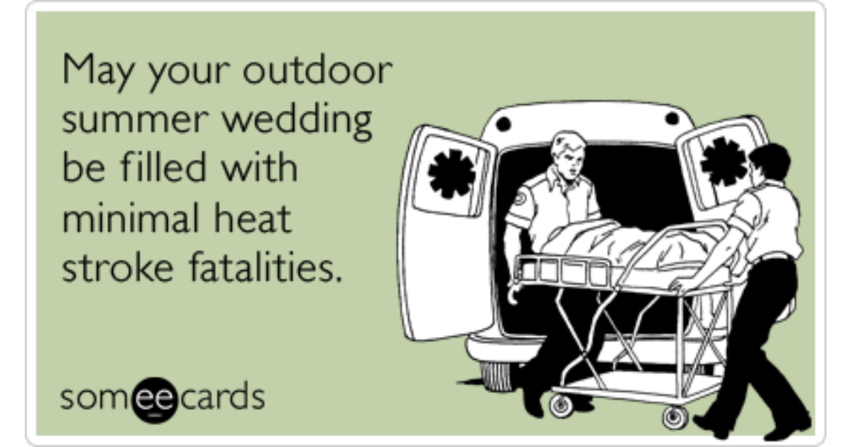 Image result for Heat stroke wedding