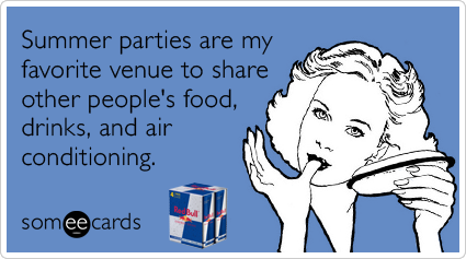 Summer Party Air Conditioning Drink Red Bull Funny Ecard
