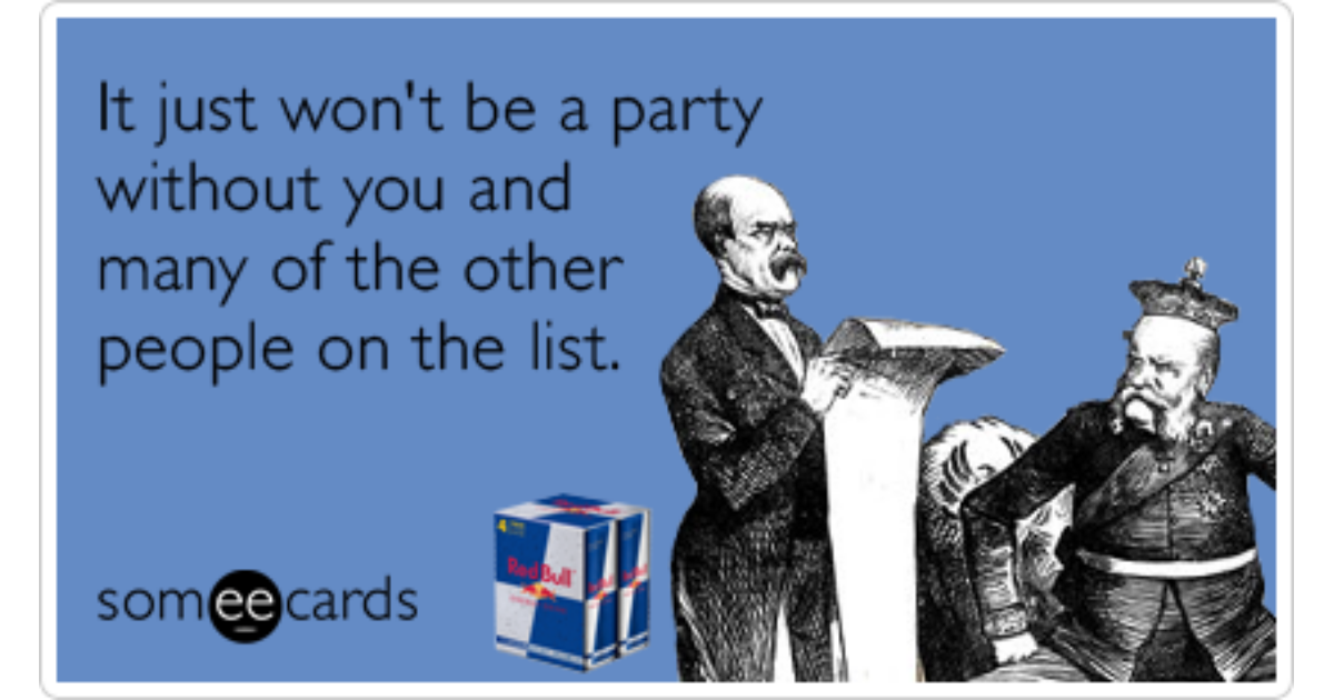 summer party invite list friends red bull funny ecard | red bull ecard, Party invitations