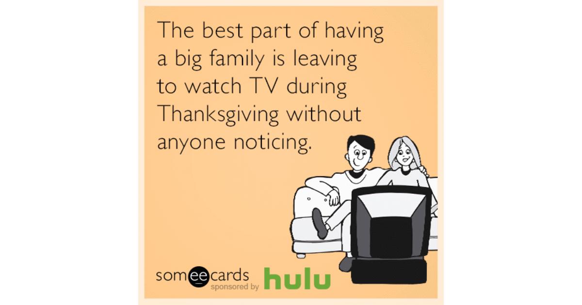 having a big family