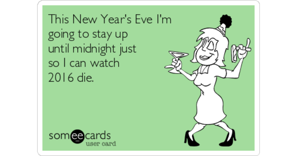 This New Year's Eve I'm going to stay up until midnight ...