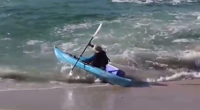 Watch this guy execute what has to be history's worst kayak launch.