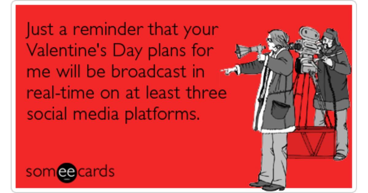 Twitter Facebook Social Media Valentines Day Funny Ecard – Valentine Cards for Facebook