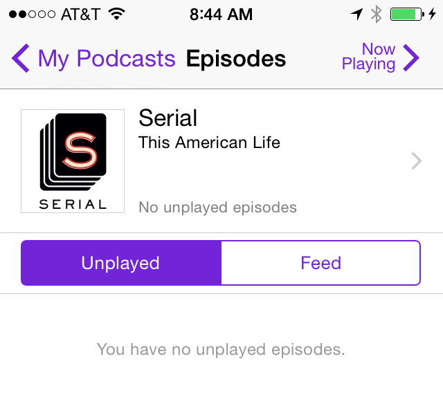 "The image that makes fans of the ""Serial"" podcast go into a deep, 6-day-long depression."