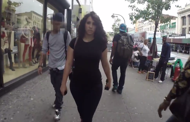 A woman used a hidden camera to prove how many times she gets harassed in a single day in NYC.