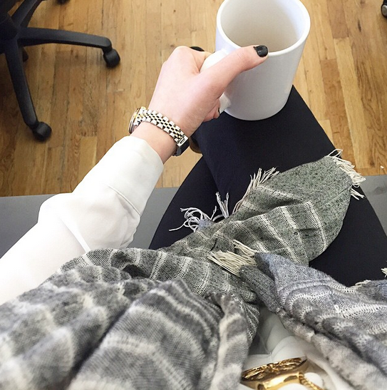 It's not fall until you take your first #scarfie.