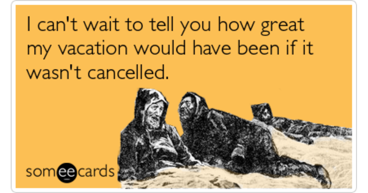 Blizzard Snowstorm Vacation Holidays New Year Farewell Ecard