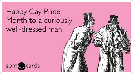 Happy Gay Pride Month to a curiously well-dressed man.