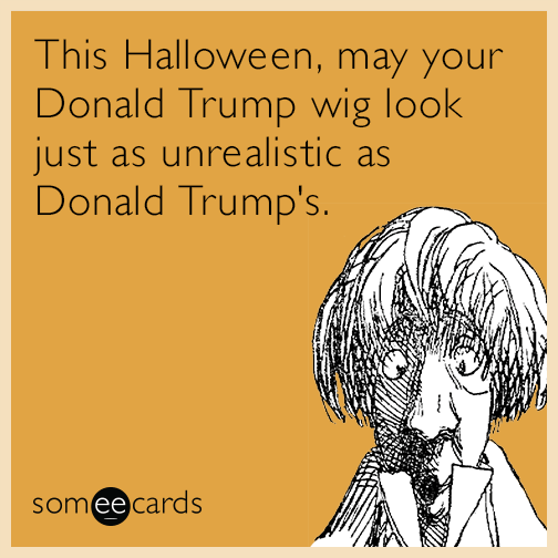 this halloween  may your donald trump wig look just as