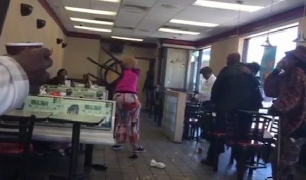 Women at McDonald's freak out and start a fight when told they're too late for breakfast.