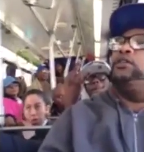 Bus passenger gets a hilarious earful after complaining about stopping for a handicapped person.