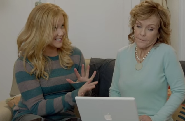 A perfect illustration of what it's like to teach your mom how to use her computer.