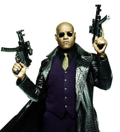 UPDATED: Today Laurence Fishburne turns 49 and is wondering when white people will stop calling him Morpheus.