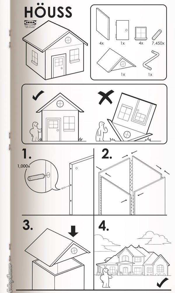 if ikea made instructions for everything reminders