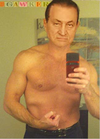 Controversial photo fully explains Mubarak's change of heart.