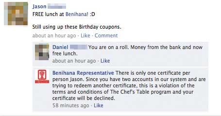 birthday boy gets caught trying to get extra free lunch from
