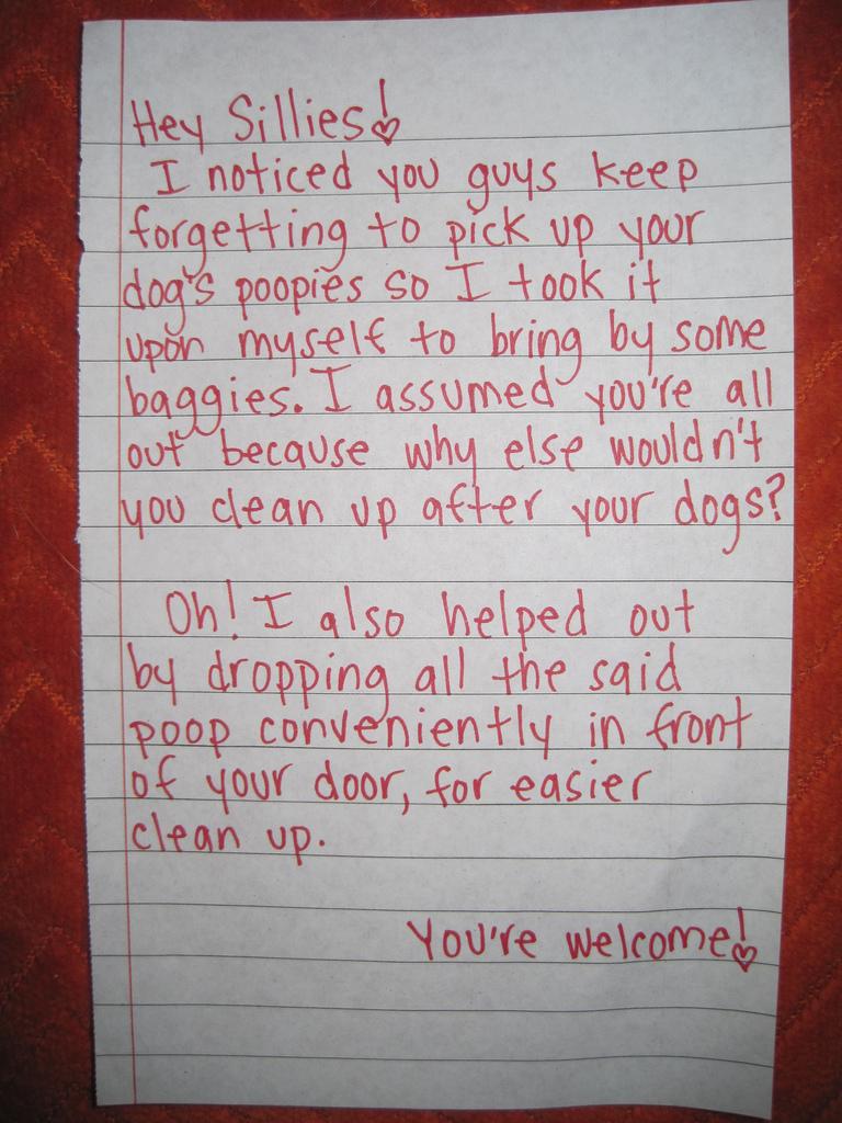 How to be a terrible neighbor - Jana Says