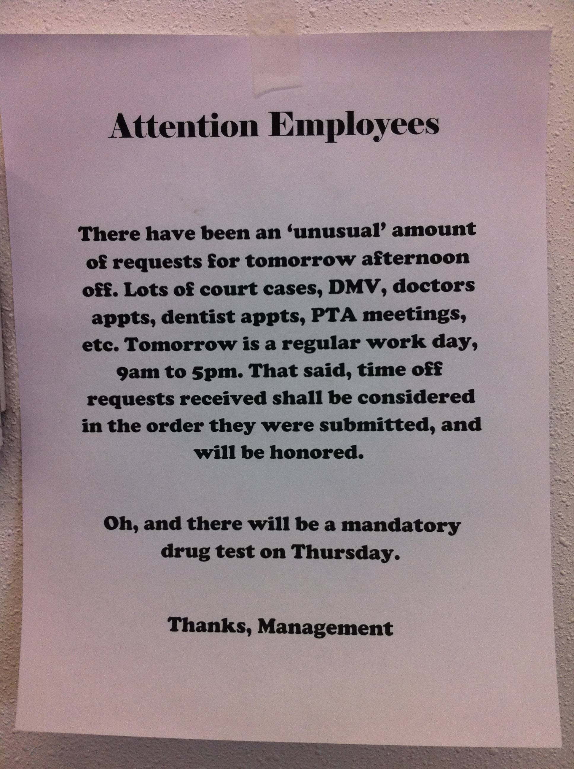 Clever Note From Boss Warns Office About 4/20 | Reminders | Someecards