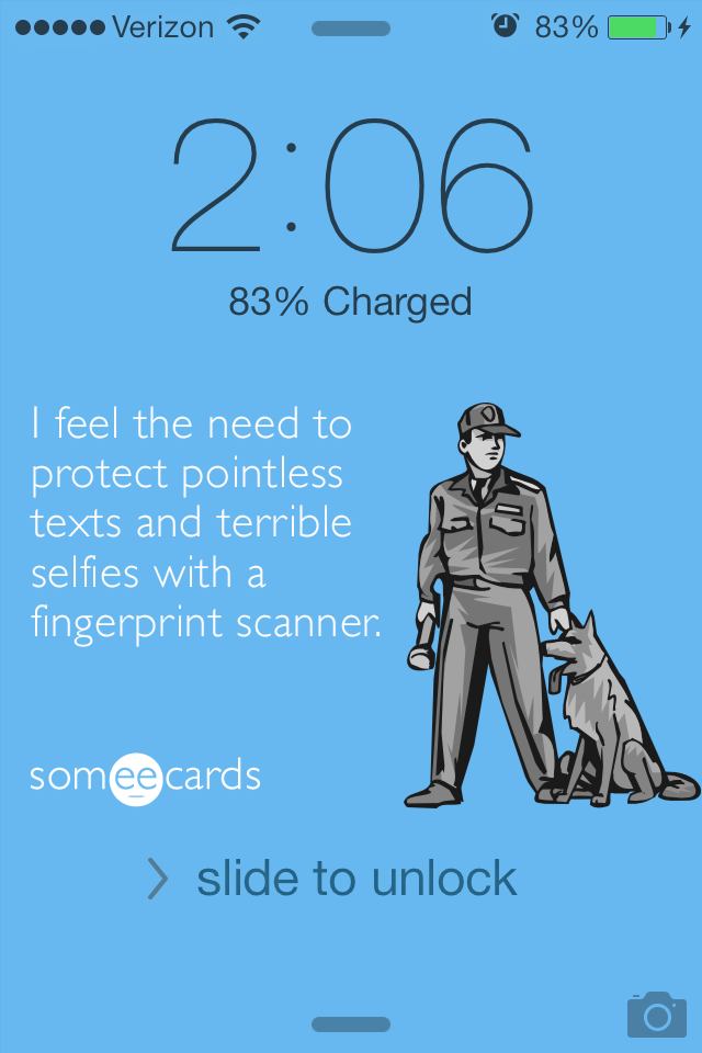 5 honest lock-screen backgrounds for your new iPhone or your old piece of crap.