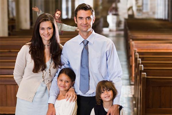 Jesus Photobombing Families on Easter